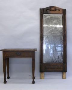 Brandskadad möbel